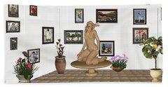 digital exhibition _ Sculpture 9 of girl  Hand Towel