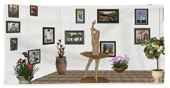 Digital Exhibition_statue Of My Dancing Girl Hand Towel