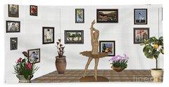 Digital Exhibition_statue Of My Dancing Girl Bath Towel
