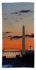 Digital Liquid -  Monuments At Sunrise Hand Towel