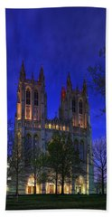 Digital Liquid - Washington National Cathedral After Sunset Hand Towel