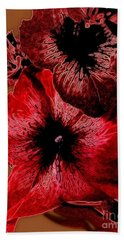 Digital Petunia Hand Towel