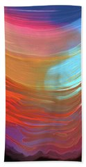 Hand Towel featuring the digital art Digital Watercolor Abstract 031417 by Matt Lindley
