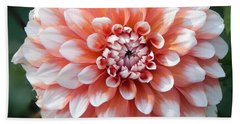 Dahlia Flower- Soft Pink Tones Bath Towel