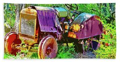 Dilapidated Tractor Bath Towel