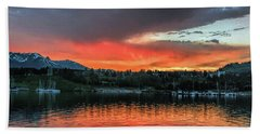 Dillon Marina At Sunset Hand Towel