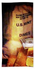 Dimes Dollars And Gold Hand Towel
