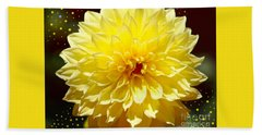 Dinner Plate Dahlia In Starry Sky Hand Towel