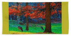 Dinner Under The Trees Hand Towel by Steve Warnstaff