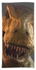 Bath Towel featuring the photograph Dino Hello by Charles Kraus