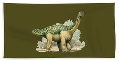 Dinosaur T-shirt Bath Towel by Herb Strobino