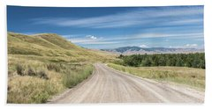 Dirt Road Through Mountains Bath Towel