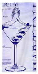 Dirty Martini Patent Blueprint Hand Towel by Jon Neidert