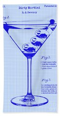 Dirty Martini Patent Hand Towel