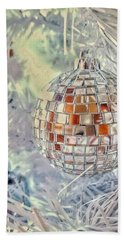 Disco Ball Tree Ornament Hand Towel