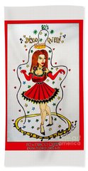 Hand Towel featuring the painting Disco Queen 80's by Don Pedro De Gracia