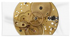 Hand Towel featuring the photograph Dismantled Clockwork Mechanism by Michal Boubin