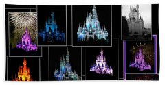 Disney Magic Kingdom Castle Collage Mp Bath Towel