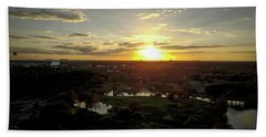 Bath Towel featuring the photograph Disney Sunset by Michael Albright