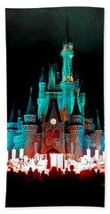 Hand Towel featuring the photograph Disney World Night by John Haldane