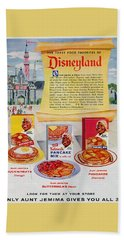 Hand Towel featuring the digital art Disneyland And Aunt Jemima Pancakes  by ReInVintaged