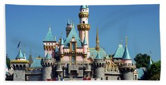 Hand Towel featuring the photograph Disneyland Castle by Mariola Bitner