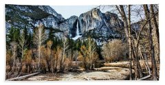 Distance Falls Hand Towel by Chuck Kuhn