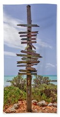 Distance From Key West Bath Towel