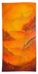 Bath Towel featuring the painting Distance by Shadia Derbyshire