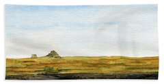 Distant Courthouse And Jail Rocks Bath Towel by R Kyllo
