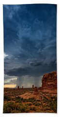 Distant Desert Storm Bath Towel