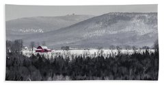 Distant Red Barn Hand Towel