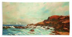 Distant Sails Of The Cove Bath Towel by Al Brown