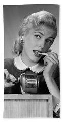 Distracted Office Worker, C.1950s Hand Towel