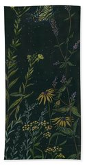Hand Towel featuring the drawing Ditchweed Fairy Tiger Swallowtail by Dawn Fairies