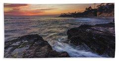 Diver's Cove Sunset Bath Towel