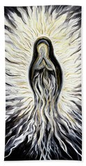 Divine Mother Black And White Bath Towel