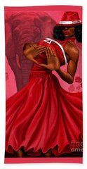 Divine Red And White Hand Towel