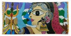 Divine Shivparvati Hand Towel
