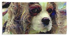 Dixie The King Charles Spaniel Bath Towel