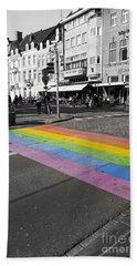 Diy Rainbow Crossing  Hand Towel