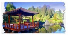 Do-00003 Shinden Style Pavilion Bath Towel by Digital Oil