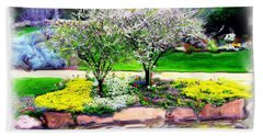 Bath Towel featuring the photograph Do-00066 Lake Walk by Digital Oil
