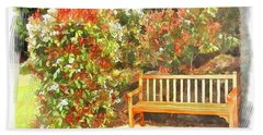 Bath Towel featuring the photograph Do-00122 Inviting Bench by Digital Oil
