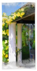 Bath Towel featuring the photograph Do-00137 Yellow Roses by Digital Oil