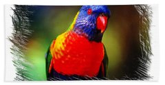 Do-00153 Colourful Lorikeet Bath Towel by Digital Oil