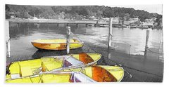 Do-00279 Yellow Boats Bath Towel by Digital Oil