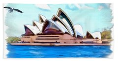 Bath Towel featuring the photograph Do-00293 Sydney Opera House by Digital Oil