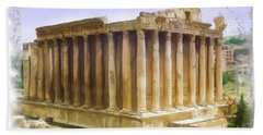 Do-00312 Temple Of Bacchus In Baalbeck Bath Towel by Digital Oil