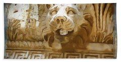 Do-00313 Lion Water Feature Bath Towel by Digital Oil